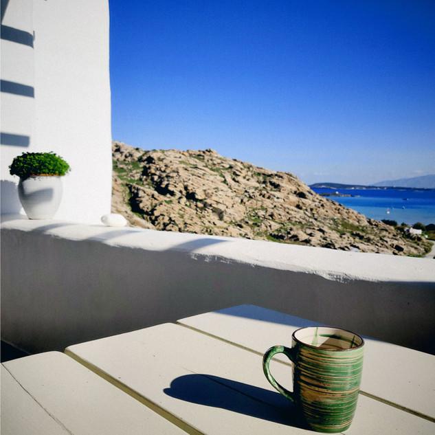 Coffee at Villa Danai Veranda