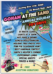 GoHAM at the Sand Toy Drive Flyer UPDATE