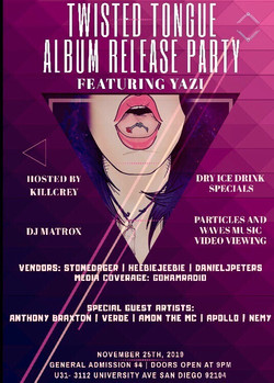 Twisted Tongue Release Party