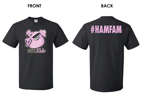 GoHAM Radio #HAMFAM T-shirt