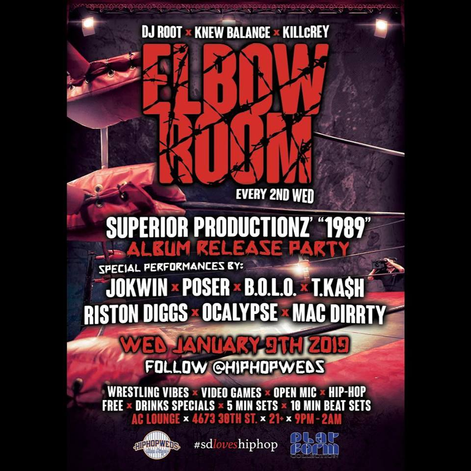 "HipHopWed Elbow Room ""1989"" Release"