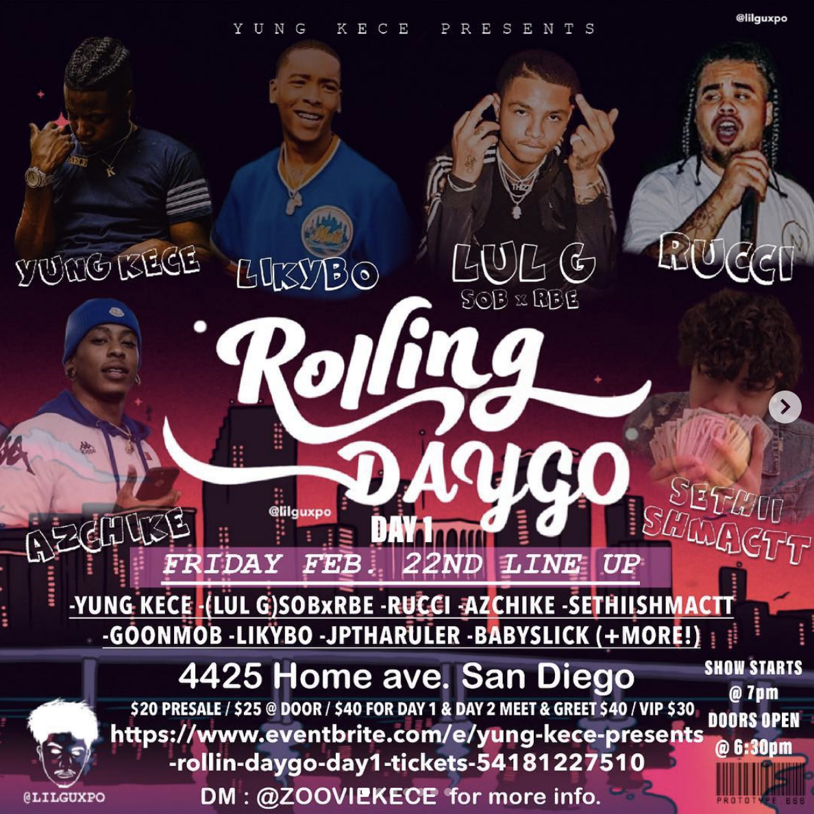Rolling Daygo Day 1