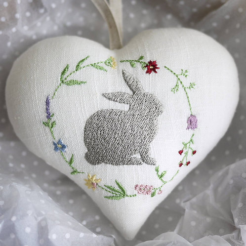 Easter bunny hanging heart decoration