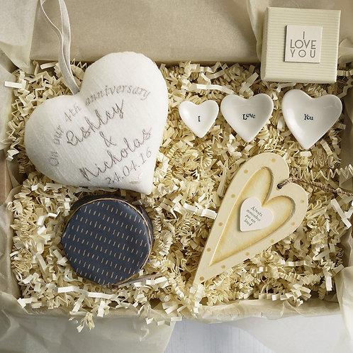 linen anniversary gift hamper