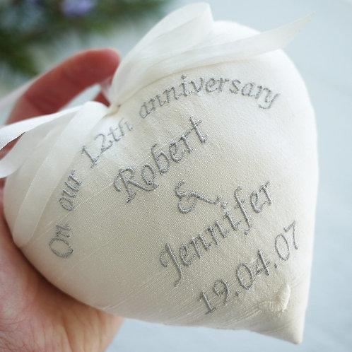 silk anniversary gift