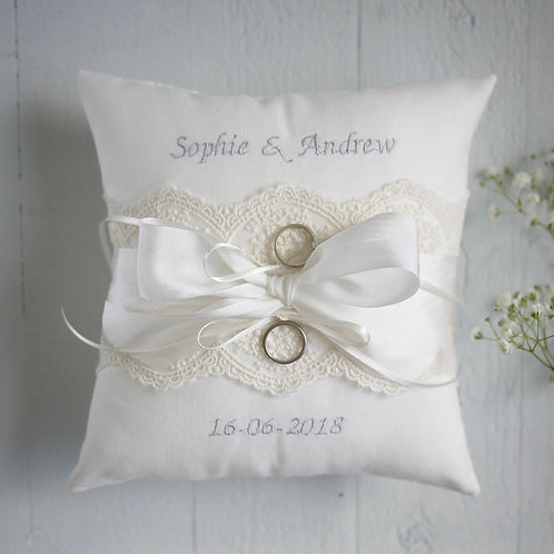 personalised ring pillow