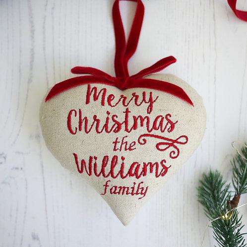 Personalised Christmas heart