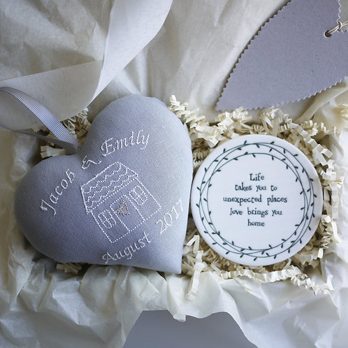 Personalised new home gift box