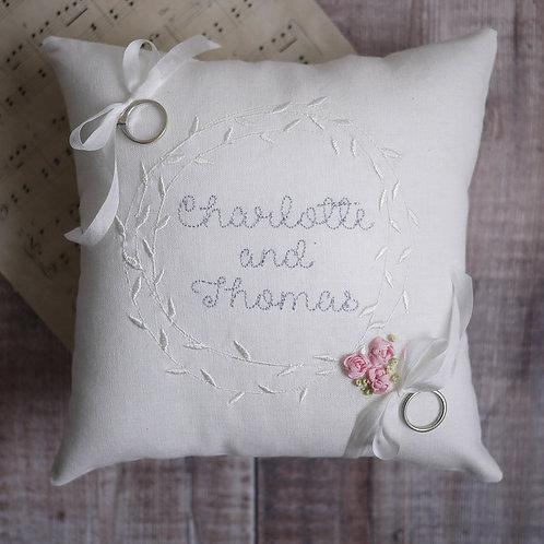 personalised ring bearer pillow