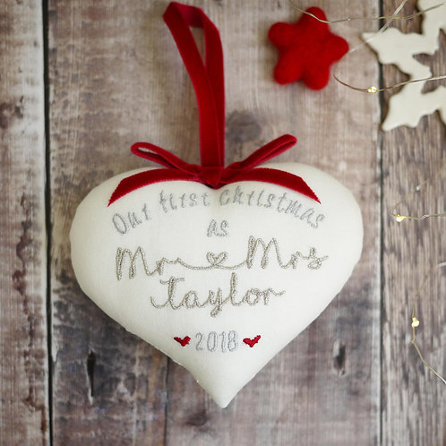 first Christmas as Mr & Mrs heart