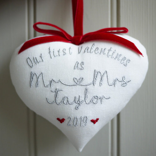 first married valentines heart