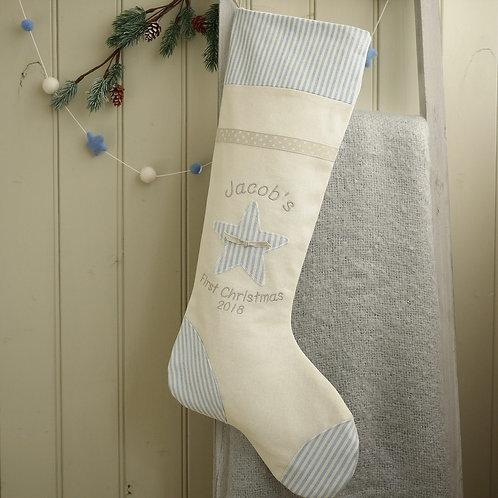 handmade first Christmas stocking | 1st Christmas gift