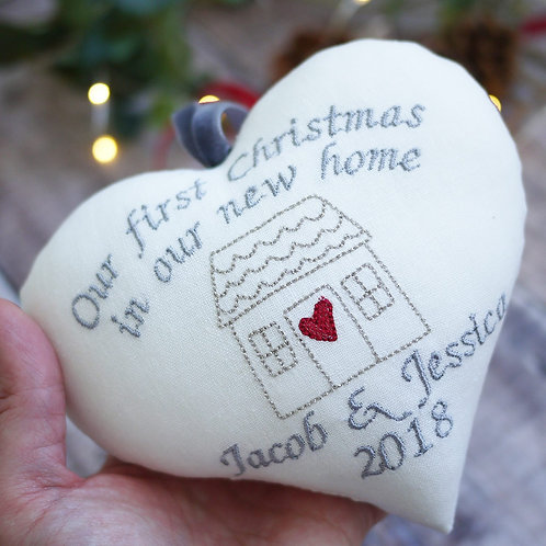 first christmas in a new home heart
