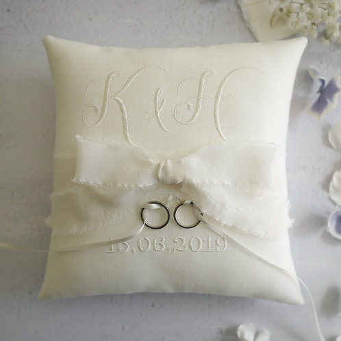 wedding ring cushion | personalised ring pillow