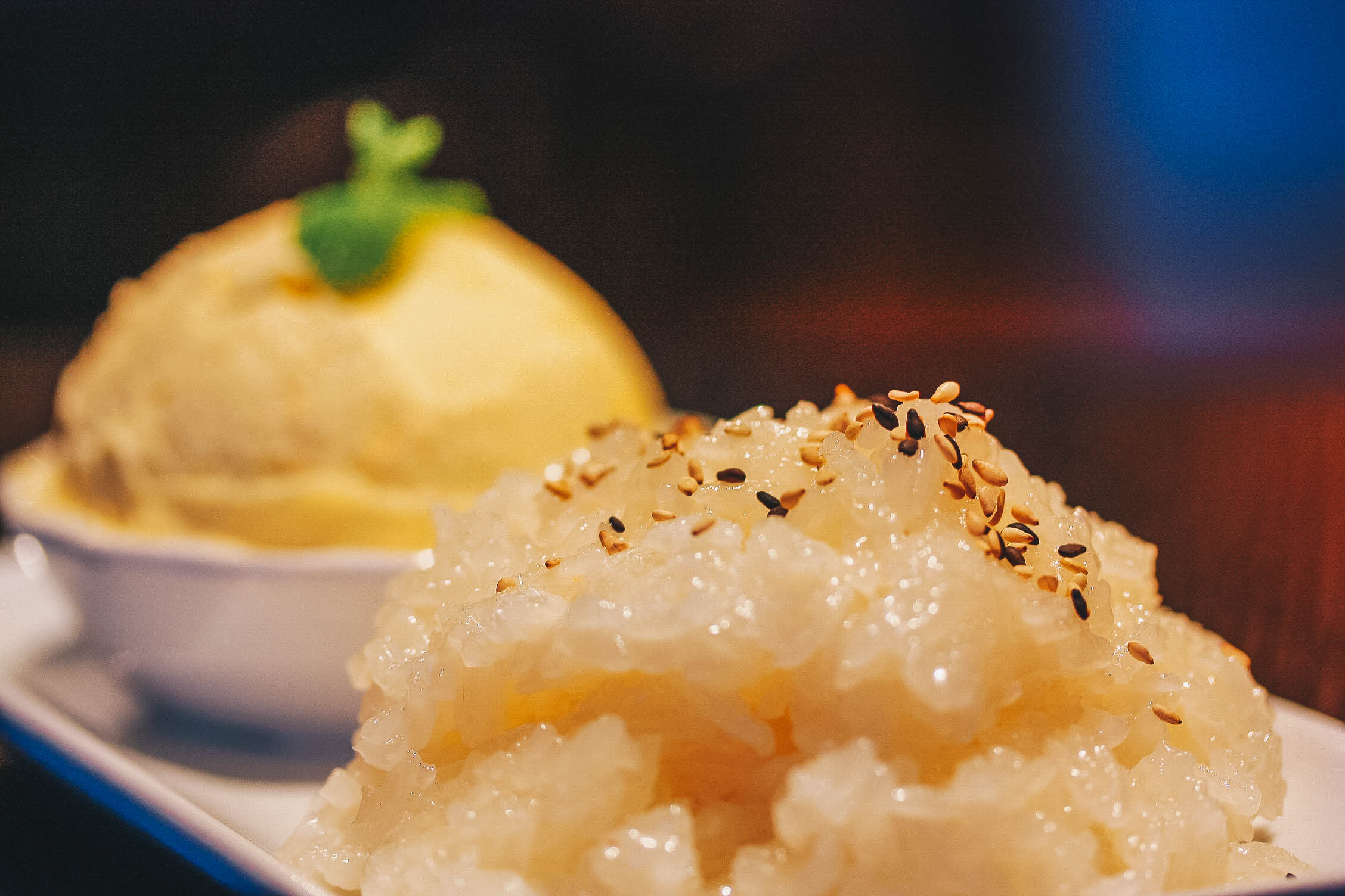 Sweet Sticky Rice _ Mango Ice Cream