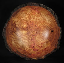 bark edged aspen burl bowl top view