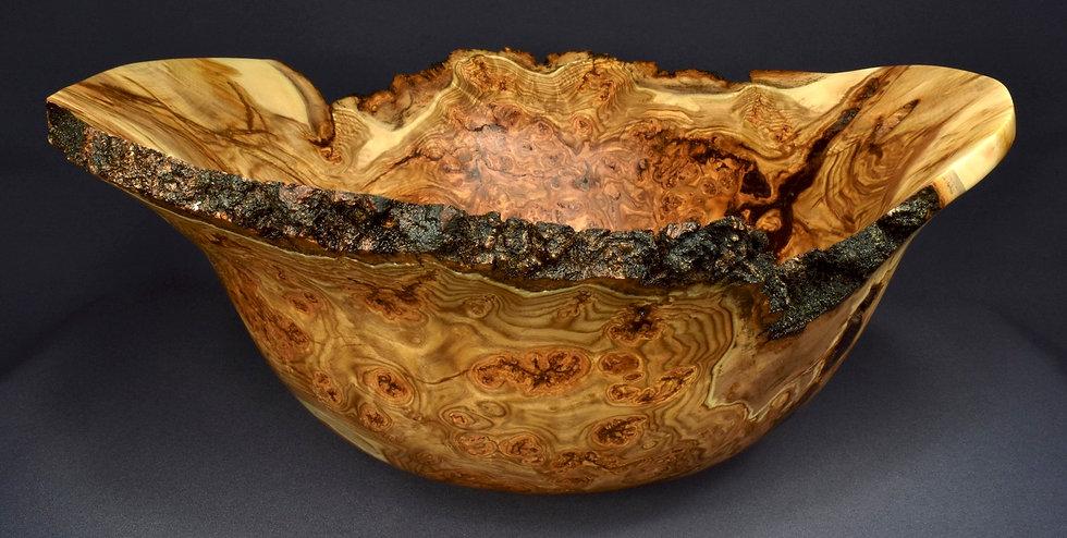 Large Highly Figured Aspen Burl Bowl (19WS22) SOLD