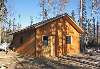 timber frame wood working shop with radiant in-floor heat and SIP construction