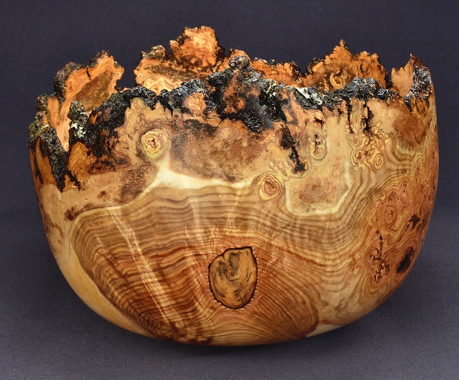 Highly Figured Aspen Burl Bowl (20WS23) SOLD