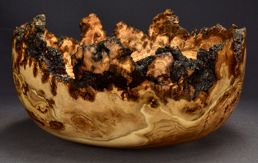 Spalted Aspen Burl Bowl (19WS21) SOLD