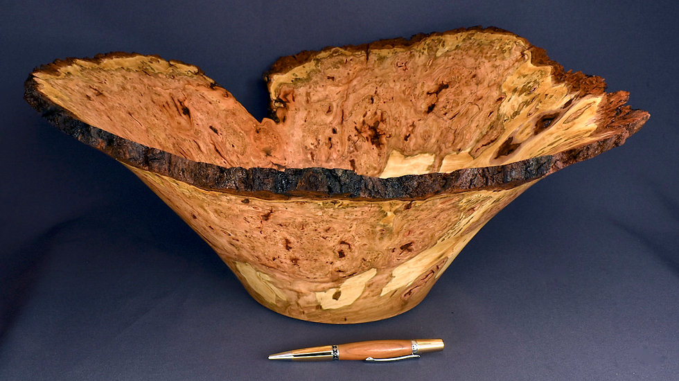 Large Wild Cherry Burl Bowl (21WS7) SOLD
