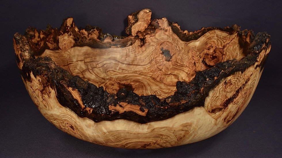 Large Spalted Aspen Burl Bowl (18W8) SOLD