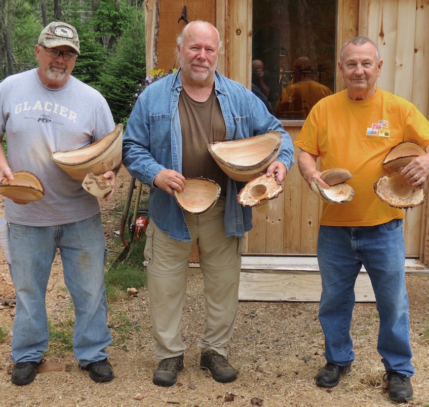 The guys with their bowls