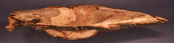 "Aspen Burl Bowl, sanded and oiled, 19"" in length"