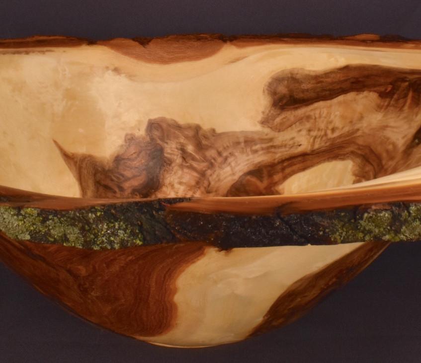 Finished cottonwood burl bowl