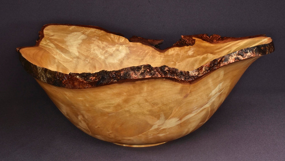 Curly Birch Burl Bowl (20WS19) SOLD