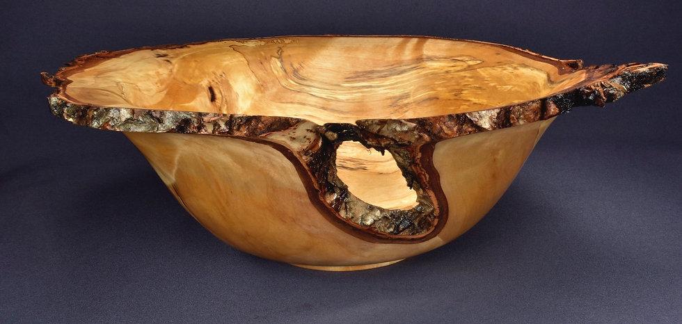 Spalted Birch Burl Bowl (20WS16)