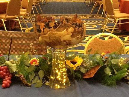 aspen burl bowl displayed for the King of Sweden in Minneapolis