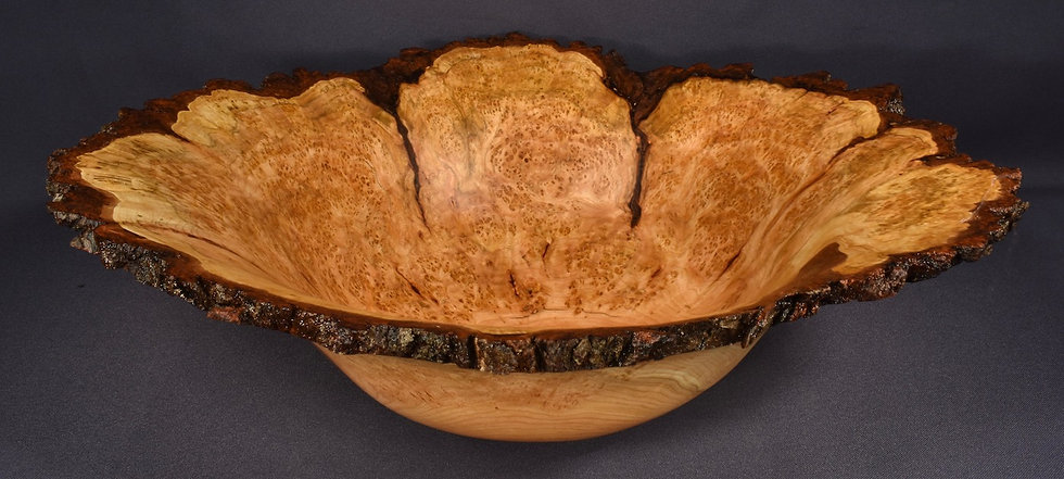 Large Wild Cherry Burl Bowl (18SF32) SOLD