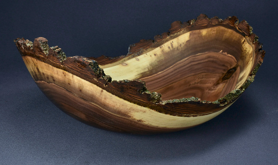 Black Walnut Bark Edged Bowl (21WS5) SOLD