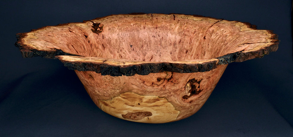 Large Wild Cherry Burl Bowl (21WS9)