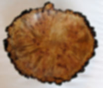 highly figured aspen burl bowl turned by Lou Pignolet