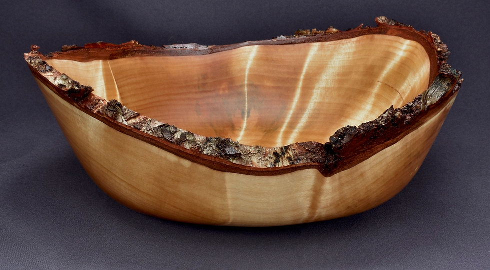 Flaming Birch Burl Bowl (20SF8) SOLD
