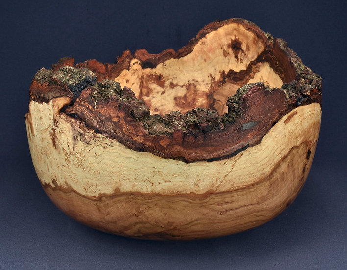 Rustic Old Oak Burl Bowl (21WS8)