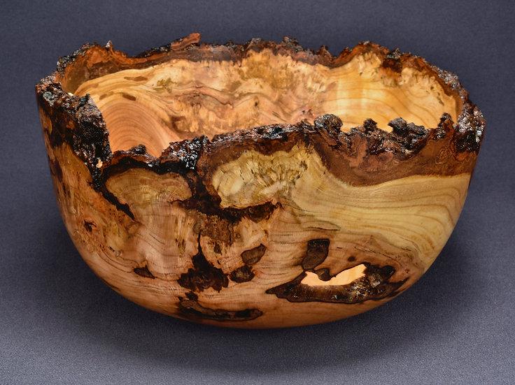 Burly Wild Cherry Bark Edged Bowl (19SF24) SOLD