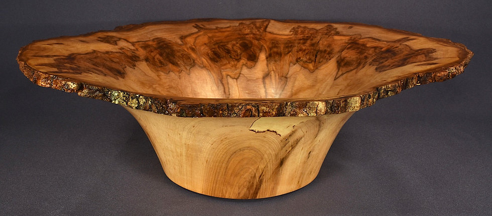 Spalted Sugar Maple Burl Bowl (18SF35) SOLD