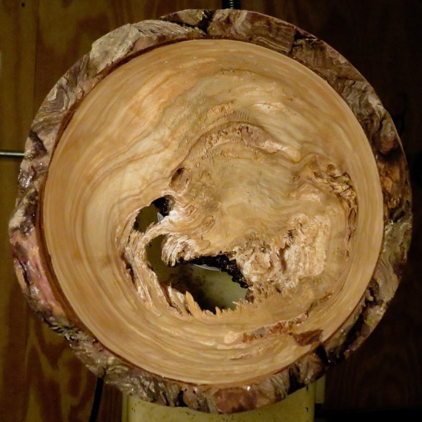 Cedar Bowl Turned
