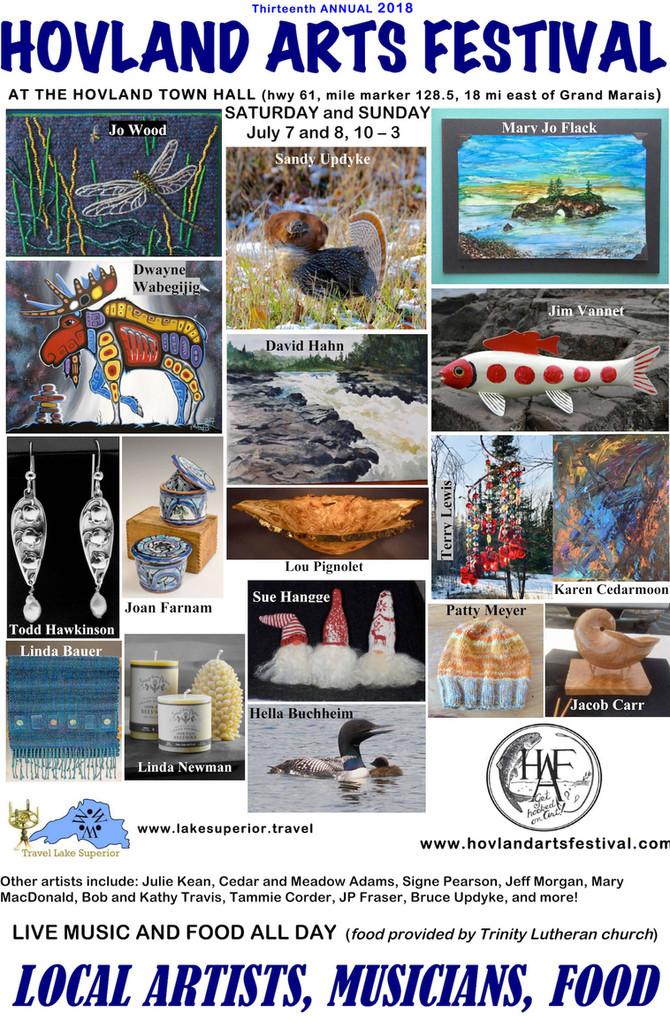 Hovland Arts Festival for 2018