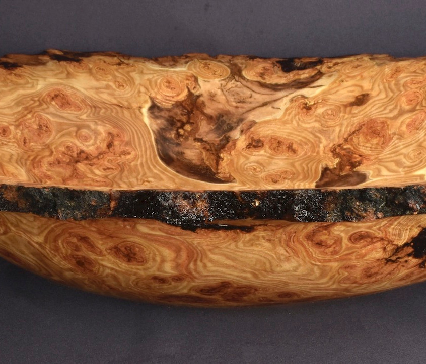 Large Aspen Burl Bowl