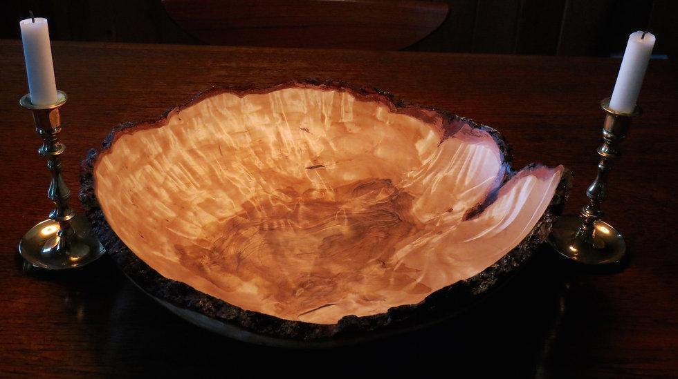 Flaming Large Birch Burl Bowl (16WS26) SOLD