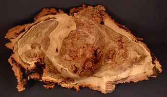 Aspen burl bowl showing amazing grain figuring
