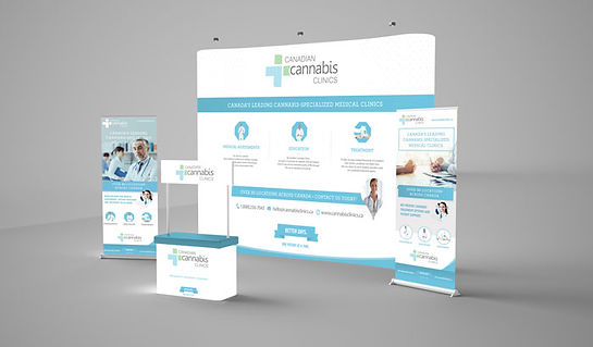 Cannabis signage, trade shows, booth panels