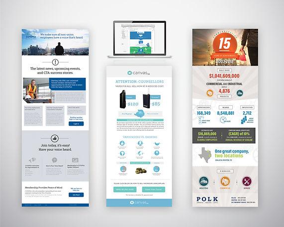 Email blast design, digital marketing