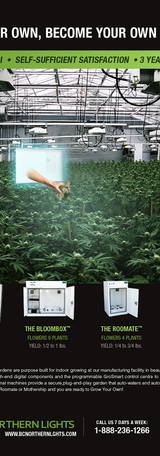 Cannabis grow box advertisement