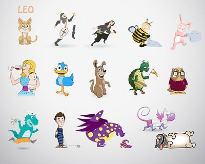 illustration, character design, cartoon style