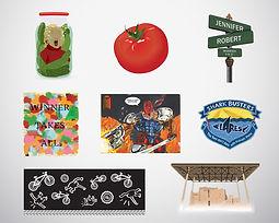 various artwork, illustration, colour